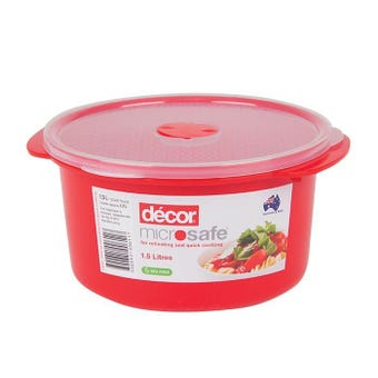 Decor Microsafe Round Container 1.5L