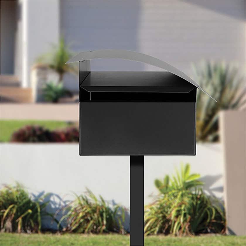 Sandleford Surf Letterbox Black/Silver