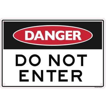 Sandleford Danger Do Not Enter Sign