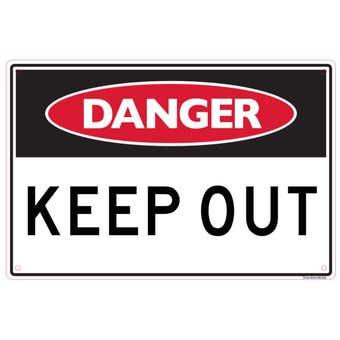 Sandleford Danger Keep Out Sign