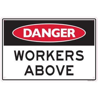 Sandleford Danger Workers Above Sign
