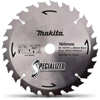 Makita TCT Circular Saw Blade for Aluminium 60T 160mm