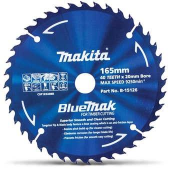 Makita Bluemak TCT Circular Saw Blade 40T 165mm
