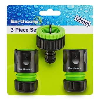 Earthcore Hose Connector 3 Piece Set 12mm