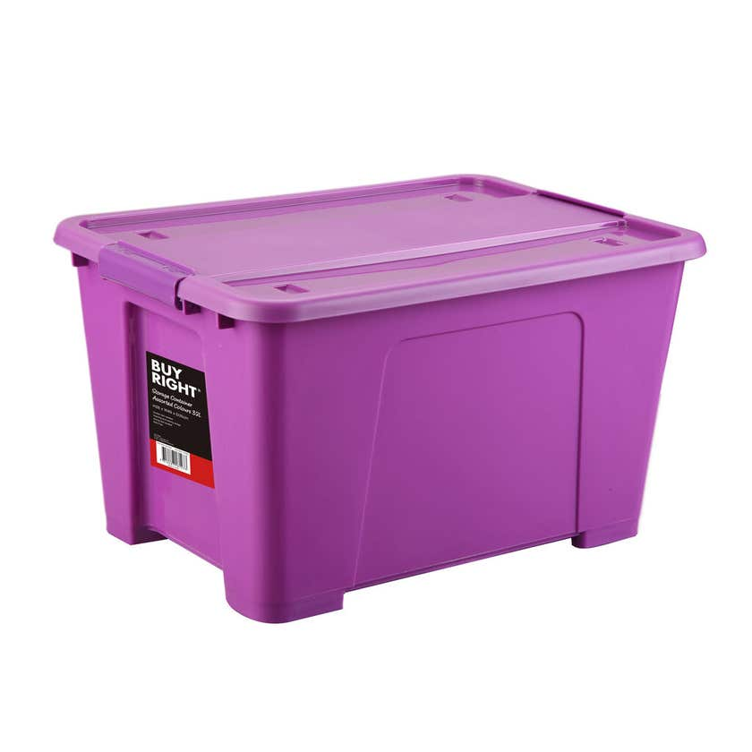 Buy Right® Storage Container Assorted Colours 32L