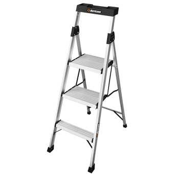 Hurricane 3 Step Dual Platform Ladder 120kg