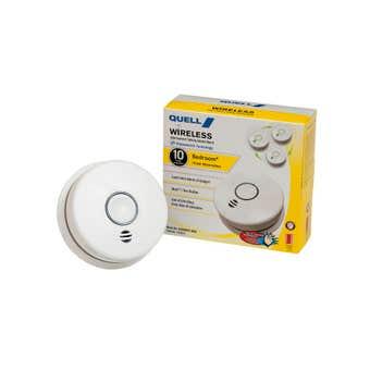 Quell Wireless Photoelectric Bedroom Smoke Alarm Voice Alert