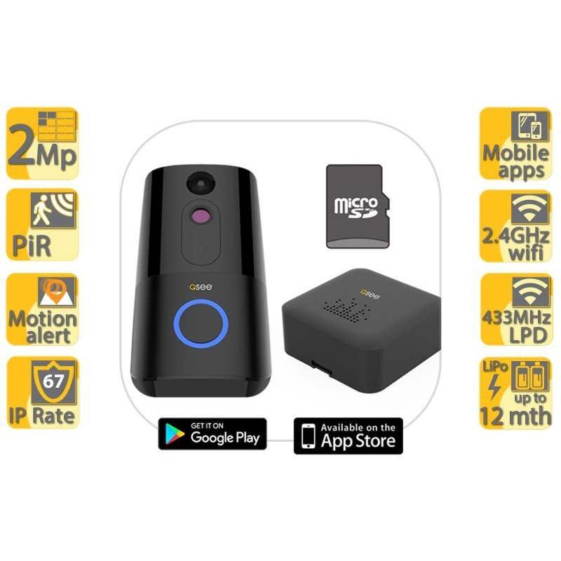 Q-See HD Video Intercom Doorbell & Chime Bundle 1080p