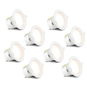HPM LED Downlight Non Dimmable Cool White 7W 70mm - 8 Pack