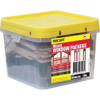 Macsim Window Packer Mixed 140mm - Box of 200