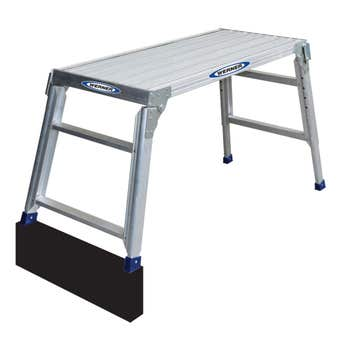 Werner Big Deck Aluminium Adjustable Work Platform 150kg Industrial