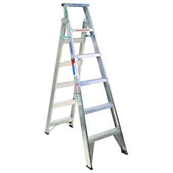 Werner Aluminium Dual Purpose Ladder 1.8/3.2m 120kg Industrial