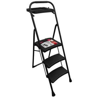 Faulkner 3 Step Wide Ladder with Tool Tray 100kg Domestic