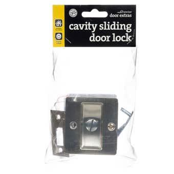 Trio Sliding Door Cavity Lock Stainless Steel Cd1