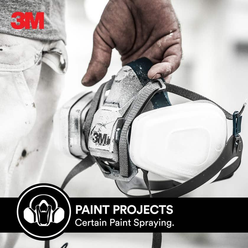 3M Cool Flow Half Face Paint Project Respirators