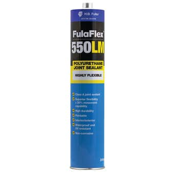 HB Fuller FulaFlex 550LM PU Joint Silicone Sealant Grey 310ml