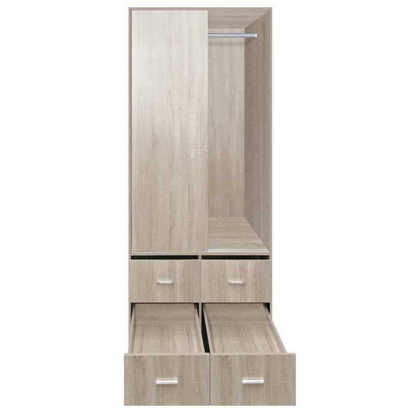 Faulkner™ Sliding 2 Door 4 Drawer Wardrobe Unit 900mm