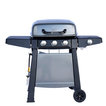 Grilled 3 Burner Hooded BBQ with Side Burner