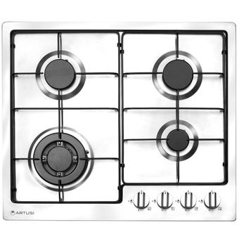 Artusi Gas Cooktop 4 Burner Enamel Trivets 600mm
