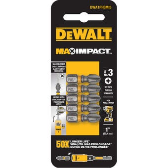 DeWALT Max Impact Drill Bit PH3 25mm - 5 pack