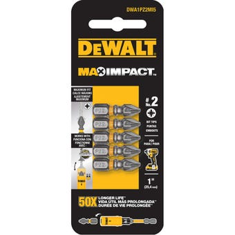 DeWALT Max Impact Drill Bit PZ2 25mm - 5 Pack