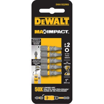 DeWALT Max Impact Drill Bit SQ2 25mm - 5 Pack