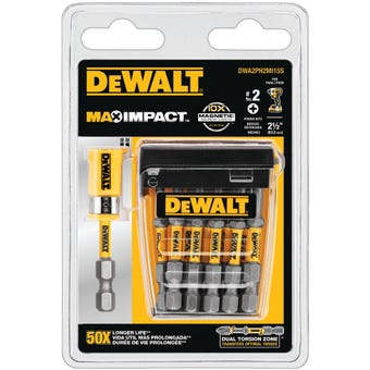DeWALT Max Power Impact Drill Bit #2 63.5mm - 15 Pack