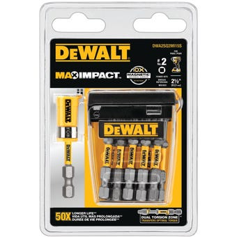 DeWALT Max Power Impact #2 Square Bit 63.5mm - 15 Pack