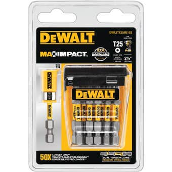 DeWALT Max Power Impact Drill Bit T25 63.5mm - 15 Pack