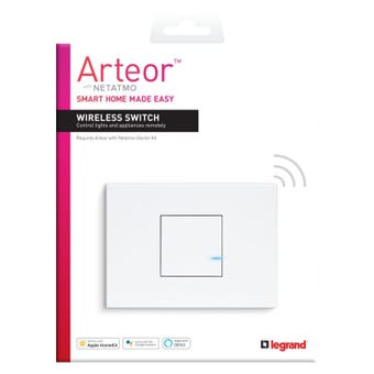 Legrand Arteor Smart Wireless Master Switch 1 Gang Horizontal