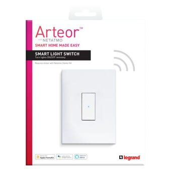 Legrand Arteor Smart Wireless Light Switch 1 Gang Vertical