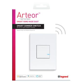 Legrand Arteor Smart Wireless Dimmer Switch Vertical
