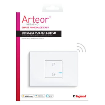 Legrand Arteor Smart Wireless Master Switch 1 Gang Vertical