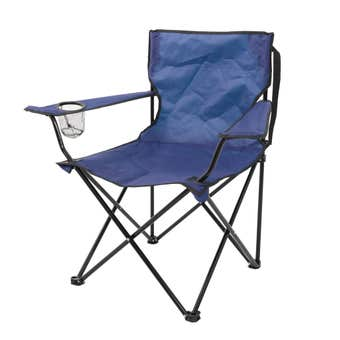 Folding Camp Chair Blue