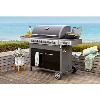 Grilled Viking 6 Burner Hooded BBQ