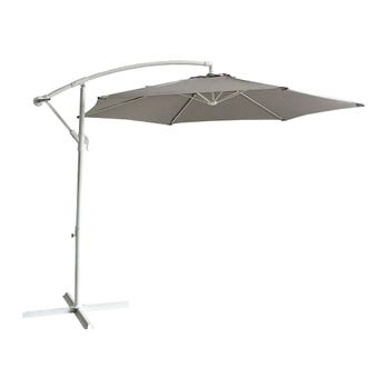 Steel Cantilever Umbrella Taupe 2.85m