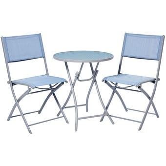 Belize 2 Seater Café Setting Blue