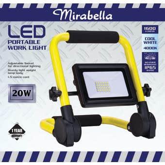 Mirabella Portable LED Worklight 20W