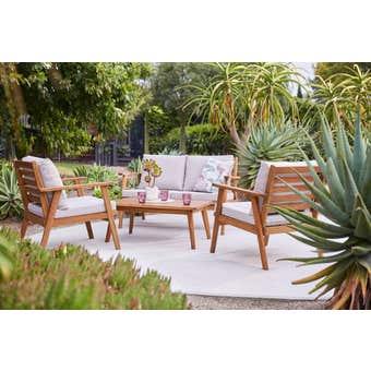 Trinidad 4 Seater Timber Lounge Setting