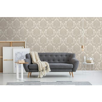 Boutique Wallpaper Vogue Taupe 10m x 520mm
