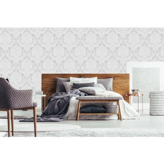 Boutique Vogue Dove Ivory Wallpaper 10x0.52m