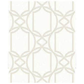 Boutique Decorative Wallpaper Geo Ivory 10m x 52cm