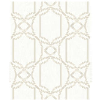 Boutique Decorative Wallpaper Geo Ivory 10m x 52cm
