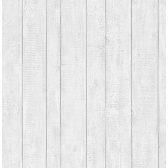 Contour Wallpaper White Plank 10m x 520mm