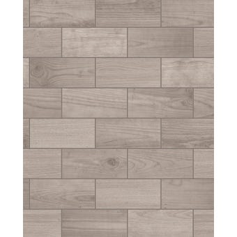 Contour Wallpaper Wooden Tile Brown 10m x 520mm