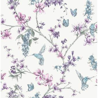 Superfresco Easy Wallpaper Simplicity Pearl Lilac 10m x 520mm