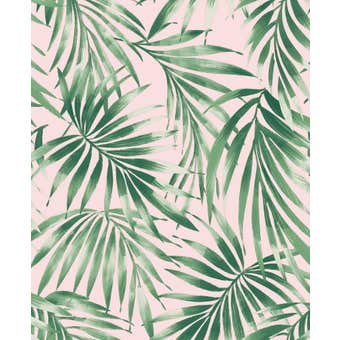 Superfresco Easy Wallpaper Elegant Leaves Pink 10m x 52cm