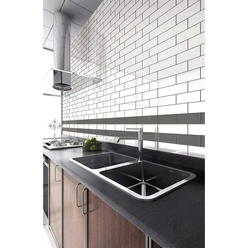 Newtown Subway Tile Gloss White 300 x 100mm