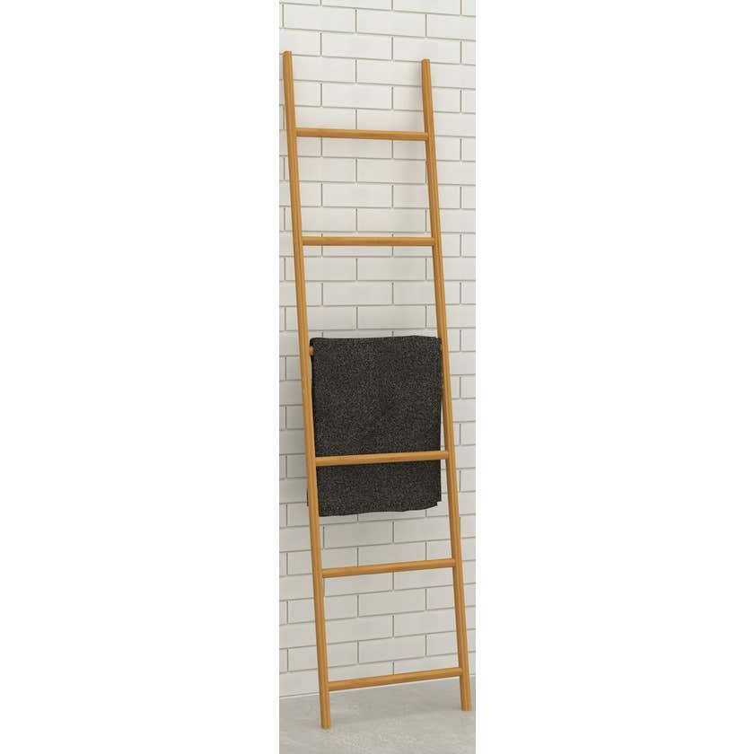 Bamboo Decorative Wall Ladder