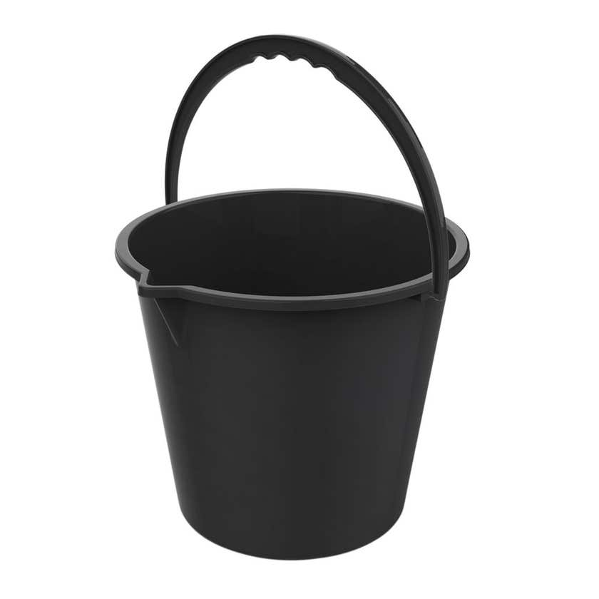 Buy Right Plastic Bucket with Spout Black 10L